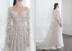 Paolo Sebastian couture wedding dress with flowers Wedding Dress Trends, Dream Wedding Dresses, Wedding Gowns, Prom Dresses, Bridal Skirts, Bridal Gowns, Paolo Sebastian Wedding Dress, Fotos Download, Wedding Ideias