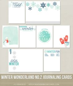 This set of eight digital journaling cards is perfect for scrapbooking, Project Life, or holiday mini-books. Included in this set are individual high resolution .jpg files and two printable .pdf pages.This set contains: 6 - 3x4* Journaling cards 2 - 4x6 Journaling cards*actual size of cards is 2.95x4Note: For personal use only. This is a downloadable product