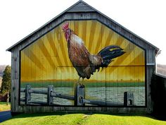 Good Morning Barn! Wow I adore this painting on the barn....I want a barn with this on it too !!