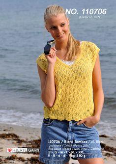 Knitting Stitches, Knitting Patterns Free, Knit Patterns, Free Knitting, Summer Knitting, Summer Tops, Sweater Fashion, Knit Crochet, Pullover