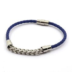 Find More Chain & Link Bracelets Information about Korea Silver Plate Leather Bracelets for Women Simple Blue Female Creative Personality Metrosexual Titanium Steel Men's Bracelet,High Quality bracelet shell,China plate shell Suppliers, Cheap plate vision from MSX Fashion Jewelry on Aliexpress.com