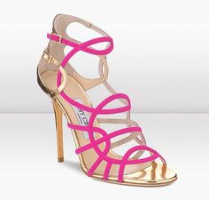 These strappy hot pink Jimmy Choo's are so Abby she would certainly pair these with  gorge going out dress or she'd wear these at an event.