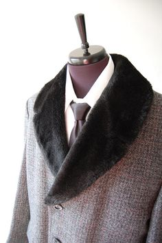Mens Vintage Wool Coat -- Louis Vuitton
