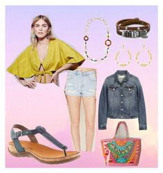 """""""Mila in the Sky"""" by bearpawstyle on Polyvore featuring Forever 21, Free People, H&M, Trina Turk and BillyTheTree"""