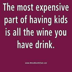 Kids are expensive #wine #humor