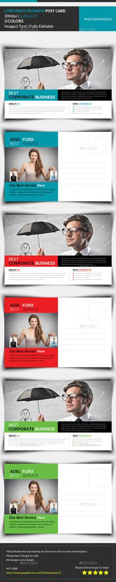 Corporate Business Postcard Template #design Download: http://graphicriver.net/item/corporate-business-postcard/11669550?ref=ksioks