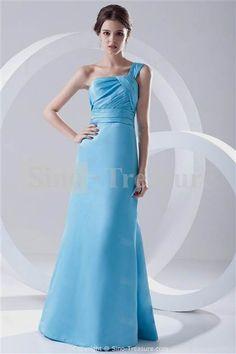 Nice sky blue country bridesmaid dresses