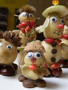 bramboráčci Food Art For Kids, Diy For Kids, Vegetable Decoration, Party Themes, Decoupage, Christmas Decorations, Potatoes, Vegetables, Birthday
