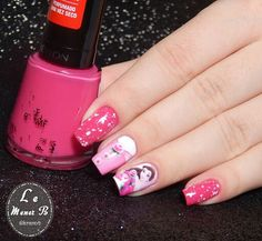 #nails #nail #fashion #style #disney #cute #beauty #beautiful #bela #pretty #girl #girls #stylish #sparkles #styles #gliter #nailart #art #opi #belle #essie #unhas #preto #branco #rosa #love #shiny #polish #nailpolish #princess
