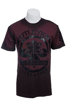 Affliction® Men's Charcoal Mayson Crack Crewneck Short Sleeve Tee Affliction Men, Affliction Clothing, Buckle Clothing, Men's Clothing, Street Clothes, Street Outfit, Buckle Outfits, Cowboys Shirt, Buy Buy