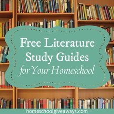 Homeschool Giveaways has a huge list of FREE Literature Guides for your homeschooling needs. She includes some of the most popular books