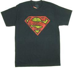 Distressed Superman Logo - DC Comics T-shirt