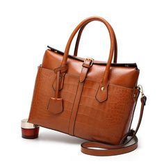Beautiful leather handbag