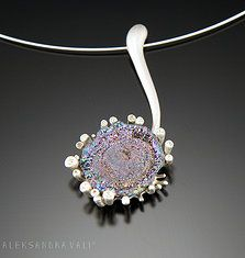Aleksandra Vali - sterling silver, coated druzy agate,