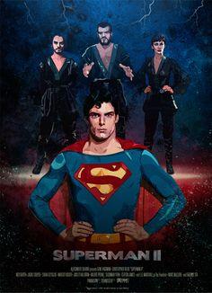 Superman II Poster Art by Jugo Gastrico