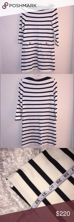 """Stripe Boatneck Kate Spade Dress ♠️ Size is XS. Brand new! Dress length is 33"""" and measures about 15 1/2"""" from pit to pit. Perfect simple piece ☺️ kate spade Dresses"""