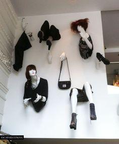 Diesel window display. #retail #merchandising #window_display #mannequins