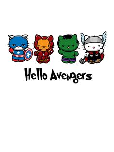 Mighty Cute Avengers: The Most Adorable Avengers Fan Art Ever! i want this on a t-shirt!! :)