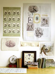 rosemary milner - workspace - love the colours xx Cabinet Of Curiosities, Interior Decorating, Interior Design, Decorating Ideas, Decor Ideas, Shabby, Dream Studio, Wall Decor, Wall Art