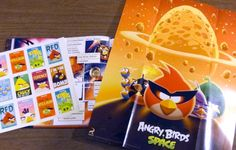 """Stickers and a poster from """"Angry Birds: Hatching a Universe"""""""