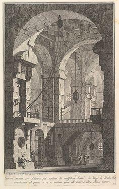 Giovanni Battista Piranesi   Dark prison with a courtyard for the punishment of criminals . . .(Carcere oscura con Antenna pel suplizio dè malfatori . . .)   The Met