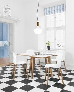 53 Ideas kitchen modern rustic white spaces for 2019 Rustic White, Modern Rustic, Kitchen Layouts With Island, Room Design Bedroom, Scandinavian Interior Design, Scandinavian Modern, Cabinet Door Styles, Rustic Apartment, Dining Lighting