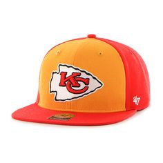Kansas City Chiefs Super Move Captain Torch Red 47 Brand Adjustable Hat -  Detroit Game Gear 0907f1b753aa