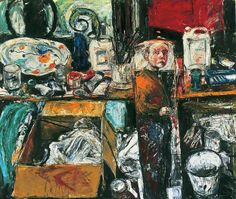 Caught in the Mirror  by Shani Rhys-James        Date painted: 1997      Oil on canvas, 182.5 x 213.5 cm