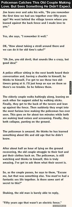 Policeman Catches Old Couple Making Love But He Didn't Expect This. funny jokes story lol funny quote funny quotes funny sayings joke hilarious humor stories marriage humor funny jokes adult jokes best jokes ever best jokes