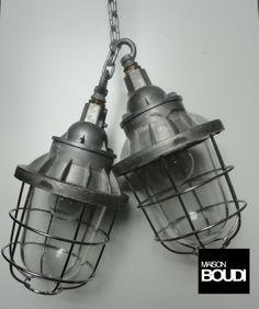 BELGIUM PENDANTS industrial light cluster