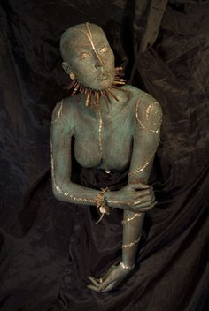 """Art Piece """"Tribal""""    My latest art piece made from a Rootstein mannequin."""