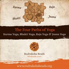 Yoga has four main paths. Each path shows a different approach to life.that ultimately leads to the same destination, the union with Brahma (Creator). Each should be truly integrated into life to attain true wisdom. #RudrakshaBeads #Spirituality