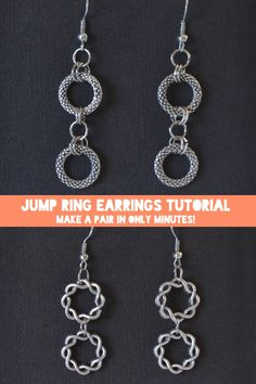 Did you know that you can make a pair of earrings from scratch in only 3 minutes? This is too neat!