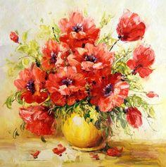 Картина : Маки в вазе Антонио Джанильятти
