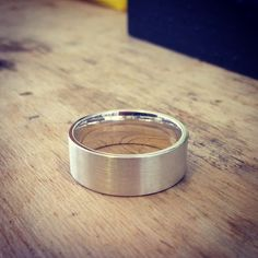 Sterling silver brushed band