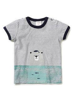 Baby Boys Tops & Tees | Bear And Fish Tee | Seed Heritage