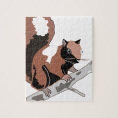 Wood Squirrel Jigsaw Puzzle - wood gifts ideas diy cyo natural