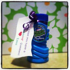 """""""bubbling"""" summer gifts for preschool class"""