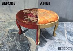 A Footstool Gets a Fortuny-Inspired Makeover