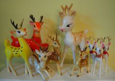 vintage plastic reindeer.  Snatch these up when you can find them!!