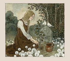 At Mother's Grave by liga-marta on deviantART ~ Cinderella by Liga Klavina of Latvia