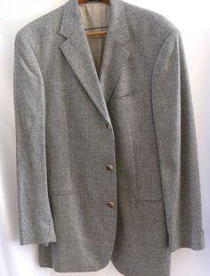 Boss Hugo Boss Sport Coat Silk Wool Blend Blazer Einstein US Jacket 42 L USA #HUGOBOSS #ThreeButton