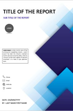 Cover Pages Ms Word Template Design