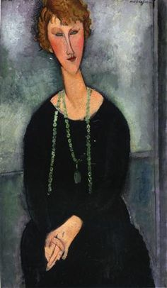 Woman with a Green Necklace (Madame Menier) - Amedeo Modigliani