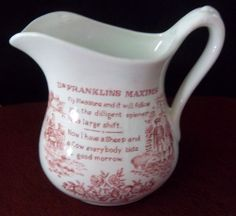 ROYAL CROWNFORD IRONSTONE DR. FRANKLINS MAXIMS PITCHER BIN