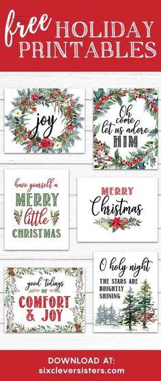 6 FREE Red Buffalo Plaid Check Christmas Printables - Six Clever Sisters 6 FREE Red Buffalo Plaid Check Christmas Printables - Six Clever Sisters
