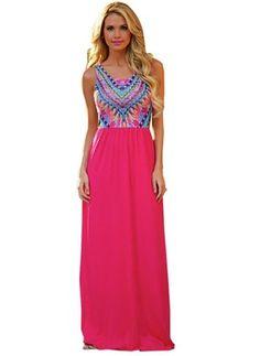 Polyester Sleeveless Maxi Vintage Dresses (1016388) @ floryday.com