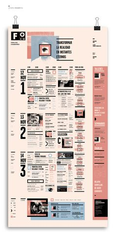 PROGRAMACION PARA EVENTO FOCO Festival by Victoria Franco, via Behance