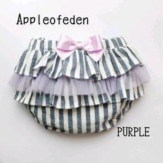 チュールフリルのブルマ PURPLE Baby Girl Skirts, Baby Dress, Sewing For Kids, Baby Sewing, Baby Bibs Patterns, Bib Pattern, Baby Crafts, Cool Baby Stuff, Handmade Baby