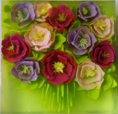 flowers bouquet art jelly
